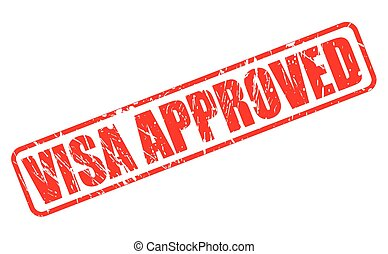 Visa approved red stamp text