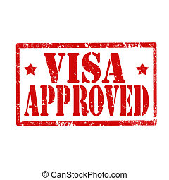 Visa Approved-stamp - Grunge rubber stamp with text Visa ...
