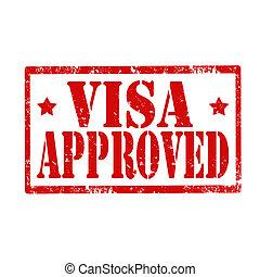 Visa Approved-stamp - Grunge rubber stamp with text Visa ...