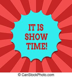 visa, foto, försegla, den, tom, skrift, underhållning, stämpel, topp, etikett, time., quality., begreppsmässig, emblem, affär, visande, hand, skugga, arrangera, monogram, perforanalysisce, text, startande