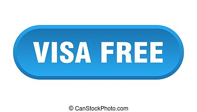 visa free button. rounded sign on white background - visa ...