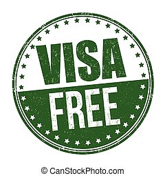 Visa free sign or stamp