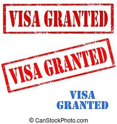 Visa Granted-stamps