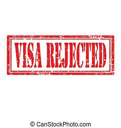 Visa Rejected-stamp - Grunge rubber stamp with text Visa...