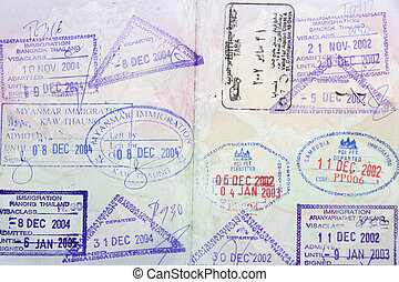 visa stamps on passport