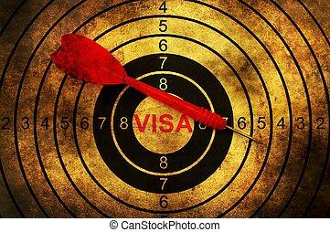 Visa target grunge concept