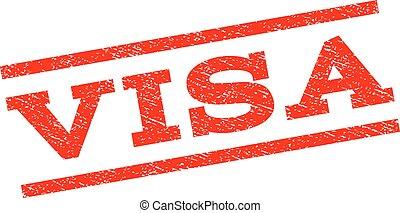 Visa Watermark Stamp