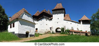 viscri, rumänien, panorama, transylvania