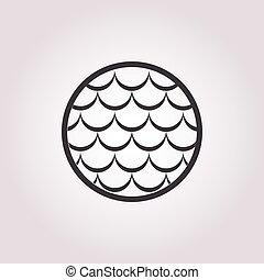 visen ikoon, witte achtergrond, schalen