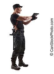 viser, gendarme, fusil