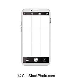 viseur, smartphone, appareil photo