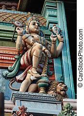 Vishnu - Supreme God in the Vaishnavite tradition of Hinduism, hindu temple decoration