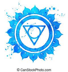 Vishuddha chakra symbol.