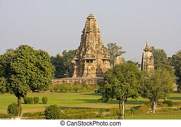 Vishwanatha hindu temple in Khajuraho, India - Vishwanatha...