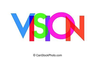 visión, transparant, carta, colorido