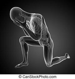 Visible anatomy - 3d rendered depression illustration -...