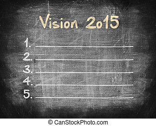 Vision 2015 on blackboard.