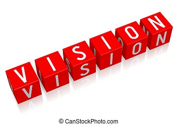 Vision - 3D cube word