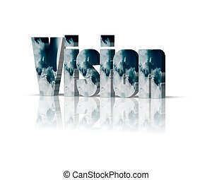 vision 3d word