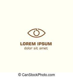 Vision abstract eye. Vector logo template