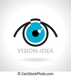 vision and ideas sign, eye icon
