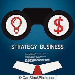 Vision and strategy for success business. vision concept.