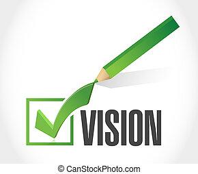 vision approve sign concept illustration