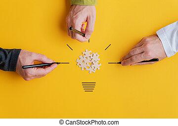 vision, begreppsmässig avbild, teamwork
