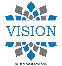 Vision Blue Grey Square Circular