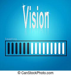 Vision blue loading bar