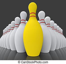 Vision Bowling Skittles Showing Achieving