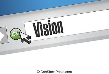 vision browser sign concept illustration