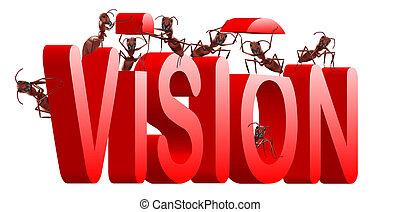 vision building - vision goal or revelation development