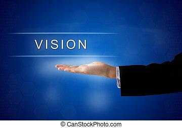 vision button on virtual screen