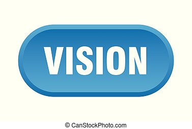 vision button. vision rounded blue sign. vision