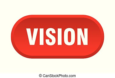 vision button. vision rounded red sign. vision