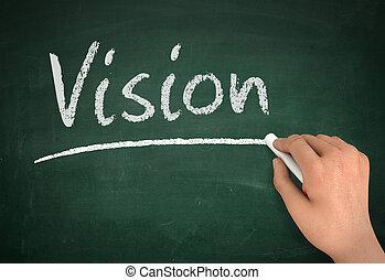 vision chalkboard write concept 3d illustration