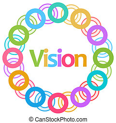 Vision Colorful Rings Circular
