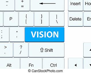 Vision cyan blue keyboard button
