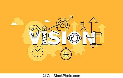 vision, déclaration, bannière, compagnie