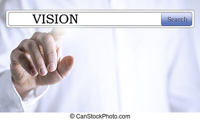 Vision database search - Finger pointing to a transparent...