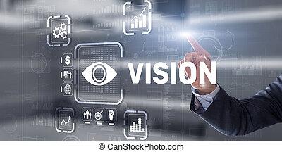 Vision Direction Future Business Inspiration Motivation Concept