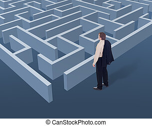 vision, et, stratégique, pensée, dans, business