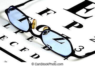 Eyeglasses and a Eyechart