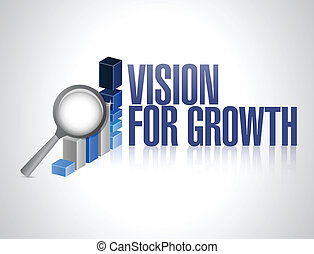 vision for growth. business concept illustration