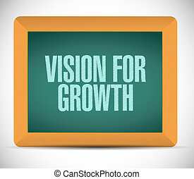 vision for growth chalkboard sign business concept