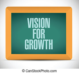 vision for growth illustration design over a white ...