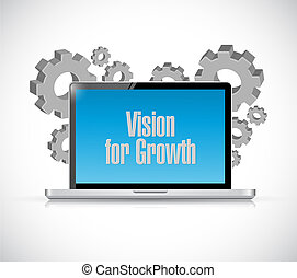 vision for growth laptop sign business concept