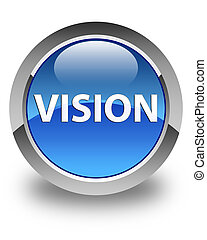 Vision glossy blue round button