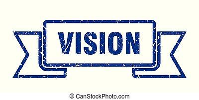 vision grunge ribbon. vision sign. vision banner